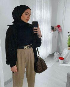 Modern Hijab Fashion, Street Hijab Fashion, Muslim Fashion, Modest Fashion, Casual Hijab Outfit, Hijab Chic, Casual Outfits, Mode Outfits, Fashion Outfits