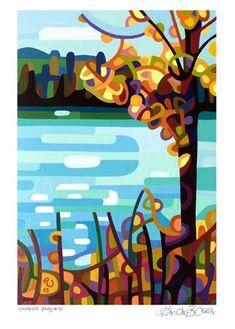 "Daily Paintworks - ""Landscape Study #70"" - Original Fine Art for Sale - © Mandy Budan"