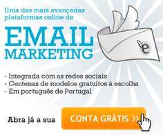 Crie já a sua conta de email marketing e começe hoje mesmo a enviar as suas newsletters.