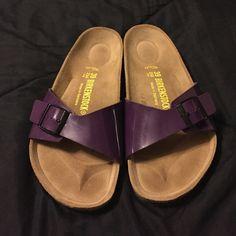 purple Birkenstock Madrid shoes size 8/9 brand new purple Madrid Birkenstock shoes size 39 fits a size 8 to 9. NO BUNDLING Birkenstock Shoes Sandals