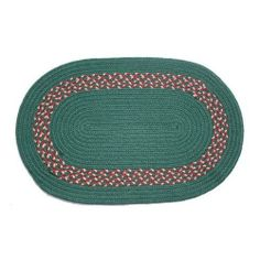 Oval Braided Rug (5'x7'): Dark Green,- Dark Green, Burgundy & Camel Band by Stroud Braided Rugs. $319.00. Reversible and fade resistant (color goes all the way through each fiber, not just on top). Indoor or outdoor use on any surface (wood, tile, brick, etc). Hand-crafted in North Carolina. Durable, high-quality, long-lasting material. Stain resistant and machine washable (lay flat to dry). This high-quality rug is hand-crafted by American workers at Stroud Braided Rug...