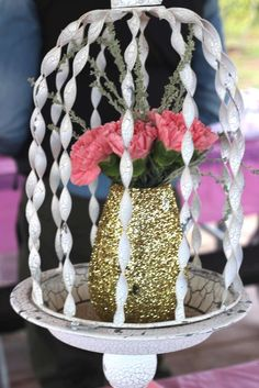 Pink & Gold Ballerina Birthday Party Ideas | Photo 2 of 21 | Catch My Party