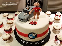 40th Birthday BMW Car Cake | Cupcakes | Cakes by The Regali Kitchen