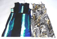 NWT CALVIN KLEIN DRESS SCOOP NECK SLEEVELESS MULTI COLOR AND SIZES 129