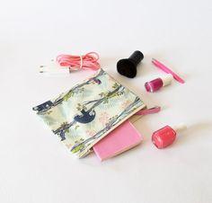 NEw in  : Pochette, trousse maquillage, pochette animaux, pochette enfant, pochette voyage , cadeau naissance , noël , cadeau