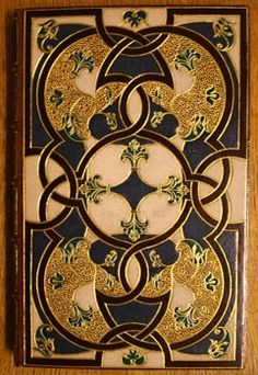 Torquato Tasso, Aminta: the famous pastoral, translated by John Dancer. London, printed for John Starkey, 1660.  Brown morocco, inlaid: a facsimile of a Flemish binding of the Grolier school executed in 1555(The Howard de Walden collection)