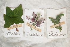 Poems and Plants: A #DIYWedding Idea for Place Cards >> http://www.hgtvgardens.com/weddings/9-pretty-garden-themed-place-cards?soc=pinterest