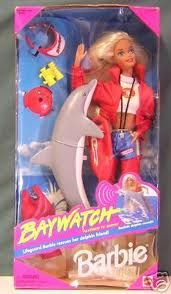 Baywatch Barbie! I so have this Barbie. Yes HAVE. My mom still has all Barbies.