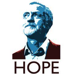 Jeremy Corbyn Hope T Shirt Keyring Design