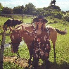 """""""#Brazil and beach horse back rides ❤️❤️ thank you @yogaforbadpeople"""""""