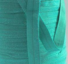 5/8 FOE  EMERALD GREEN  Fold Over Elastic   5 by CreationsbyLSM, $2.10