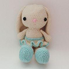 Handmade crochet bunny doll for your little one by etsy shop: DiorLauryn