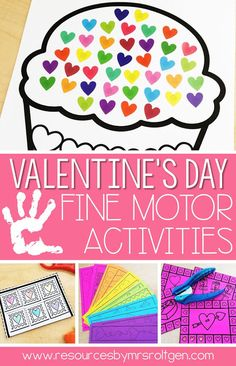 Celebrate Valentine's Day with your preschoolers, kindergarten, or homeschool students with these 10 Valentine's Day fine motor skills activities. The activities can be performed multiple ways, but they will always help develop the budding fine motor skills of prek or kinder students. These low-prep activities may require some prep work like laminating, and they are perfect for small groups, morning tubs, centers, or any time you want your students to practice their skills anytime in February.