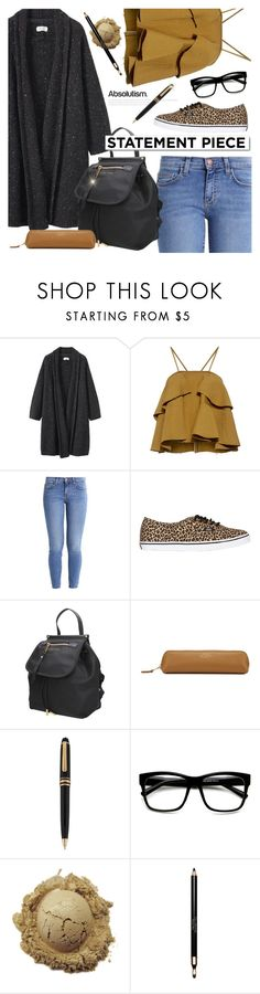 """""""School Coat"""" by giuliettagioia ❤ liked on Polyvore featuring Toast, Rachel Comey, Current/Elliott, Vans, Marc Jacobs, White Label, Montblanc, ZeroUV, Clarins and statementcoats"""