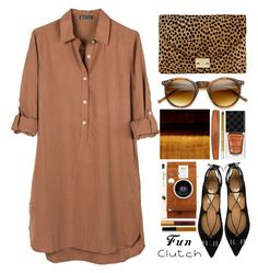 """shirtdress"" by juliehalloran ❤ liked on Polyvore featuring United by Blue, Loeffler Randall, ZeroUV, Rimmel, Gucci, Urban Decay, LØMO, Salvatore Ferragamo, Lipstick Queen and Bobbi Brown Cosmetics"