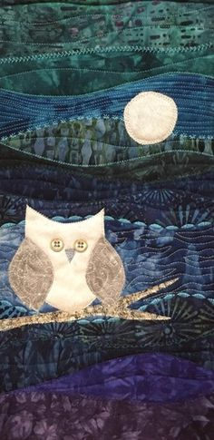 Night Owl wall hanging quilt pattern by Beret Nelson at On the Trail Creations