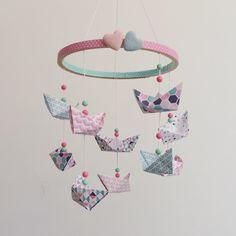 Giostrina per culla con barchette #origami.  #origamiart #papercraft #paper #diy #handmade