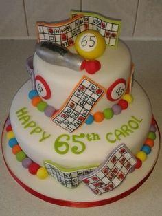 2 tiered bingo themed birthday cake 2 tiered bingo themed birthday cake by T cAkEs – For all your cake decorating supplies, please vi 90th Birthday Cakes, 75th Birthday Parties, Birthday Cakes For Women, Birthday Ideas, Birthday Cupcakes, Bingo Cake, Bingo Party, Mini Cakes, Cupcake Cakes
