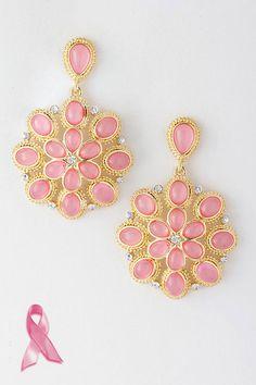 Blush Rosette Earrings..... PINK!!!