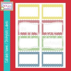 Editable Word Wall Cards - Primary Chevron Colors