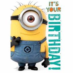 Buy this Despicable Me Minion 1 in a minion Birthday Card, perfect for any fan of the Minions hit movie on their birthday! Description from danilo.com. I searched for this on bing.com/images