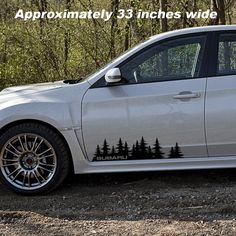 Subaru Decal Custom Vinyl Forest Silhouette Graphic Door or window graphic WRX Forester Impreza BRZ Legacy Outback Tribeca Crosstrek Maserati, Bugatti, Subaru Forester, Subaru Wrx, Subaru Station Wagon, Subaru Outback Accessories, Rolls Royce, Forest Silhouette, Legacy Outback