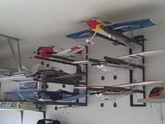 Radio Control RC Airplane Wall Hanger Storage Rack System