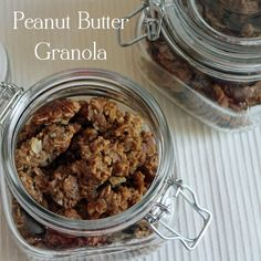 Homemade Peanut Butter Granola, great for breakfast or an afternoon snack!