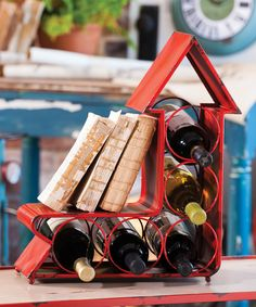 Another great find on #zulily! Red Arrow Metal Wine Bottle Holder by Evergreen #zulilyfinds