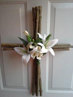 Cross wreath I made.