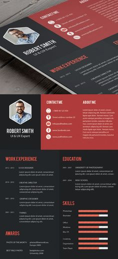 Creative Infographic Resume Template With Cover Letter Free - free professional resume templates