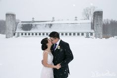 Congrats to Nancy and Brian!  They had a perfect snowy wedding day at Perona Farms.  @dbeckerphoto