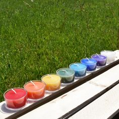 For yoga, self care, and wellness. or just because you want a rainbow of beeswax tealights!