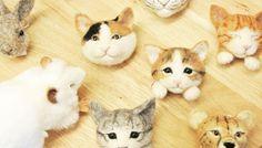 woolly zoo 動物フェイスブローチ「白ネコ」 - こども心と出会える雑貨店、TENYNEO。| オンラインストア