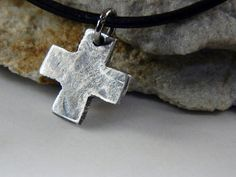 Boxing Week Sale 20 OFF Tiny Christian Cross Fine by Trijoux, $49.00