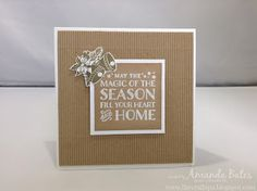 The Craft Spa - Stampin' Up! UK independent demonstrator : Corrugated Cozy Christmas Bells Card