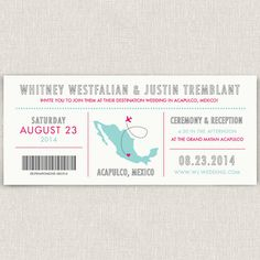 Journey  Modern destination wedding invitation by papertalkpress