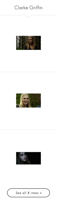 """""""Clarke Griffin"""" by worralldemon ❤ liked on Polyvore"""