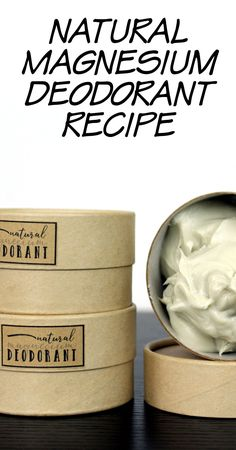 Natural Deodorant Recipe - Making the Switch for Your Health! Learn how to make a natural magnesium cream deodorant recipe that not only fights odor causing bacteria, but is gentle on skin. And it also helps to increase the level of magnesium in your body to help with everyday aches and pains.