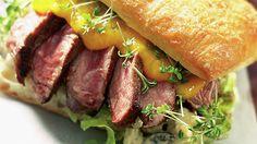 Biffsandwich med mangosaus - Kos - Oppskrifter - MatPrat