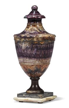 Decorated Mining Urn English Georgian Classical Urn Of Blue John  Blue John