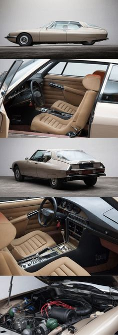 1971 Citroën SM / beige champagne / France / for sale at thecoolcars.nl / 1971 Citroën SM / beige champagne / France / for sale at thecoolcars. Citroen Ds, Citroen France, Maserati, Retro Cars, Vintage Cars, Models Men, Cv Design, Resume Design, Amazing Cars