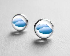Buy Rain Cloud Earrings Post Stud, Weather Earrings, Everyday Jewelry, Summer Earrings, E237 by petitevanilla. Explore more products on http://petitevanilla.etsy.com