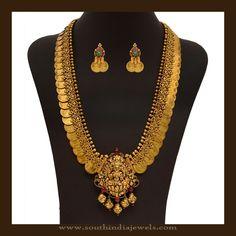 Gold Bridal Kasumalai Necklace Sets, Gold Kasumalai Necklace Sets for Brides, Gold Antique Bridal Kasumalai Designs.