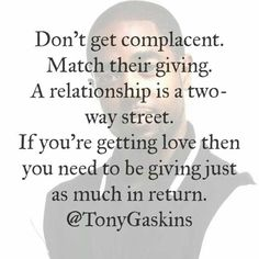 Being complacent in a relationship