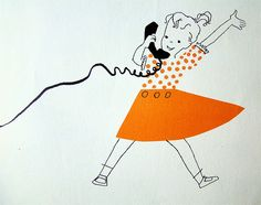 Talking on the phone    From I Want To Be A Telephone Operator Carla Greene (Author), Mary Gehr (Illustrator), 1958.