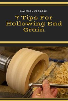 Hollowing end grain on a lathe can be challenging when starting out. In this article, we cover seven tips that we fill will make it easier for you to learn. Wood Turning Lathe, Wood Turning Projects, Wood Lathe, Green Woodworking, Router Woodworking, Woodworking Techniques, Lathe Projects, Woodworking Projects Diy, Wood Projects