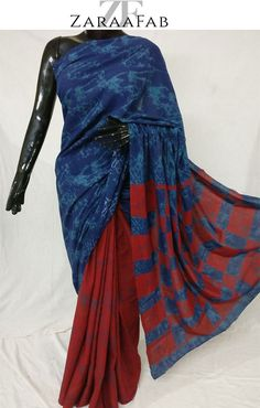 Looking for latest designer blue and red malmal saree online? Zaraafab offers wide variety of party wear and bollywood sarees online for women at low price in UK.  #designerbluesaree #redmalmalsaree #onlinesareeuk #ethnicwear #designersaree #womenclothing #bluesareecollection #partyweardress #weddingwear #casualwear