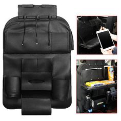 \nLeather Car Seat Back Foldable Food Table Storage Bag Multi-functional Phone Organizer with USB Charging Port\n Car Storage, Table Storage, Storage Hacks, Food Storage, Montenegro, Cook Islands, Seychelles, Sierra Leone, Uganda