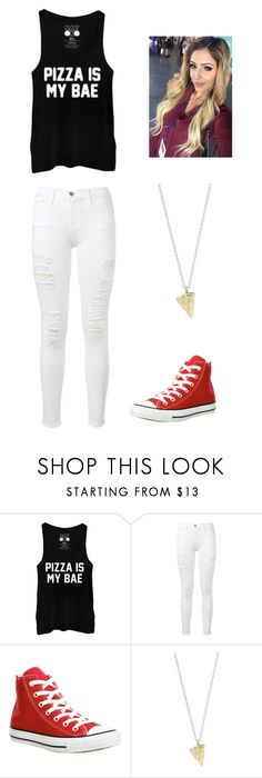 """""""My Friend Made This Set!"""" by orr112 ❤ liked on Polyvore featuring Frame, Converse, Rock 'N Rose and pizza"""